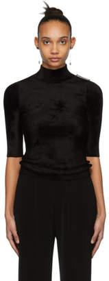 Balenciaga Black Velour Turtleneck