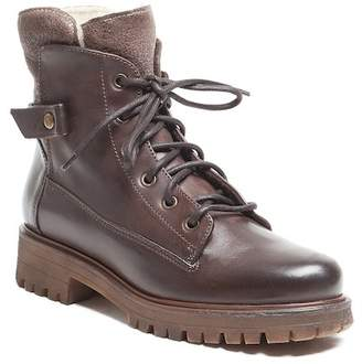 Manas Design Lace-Up Leather Boot
