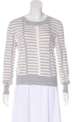 Tanya Taylor Virgin Wool Striped Top
