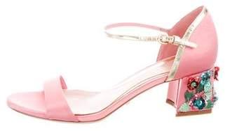 Sebastian Milano Satin Ankle Strap Sandals