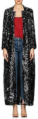 Leone WE ARE Women's Paillette-Embellished Maxi Robe Coat