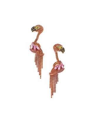 Elizabeth Cole Georgy Flamingo Earrings