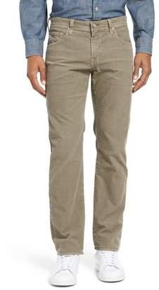 AG Jeans Matchbox Slim Straight Leg Corduroy Pants