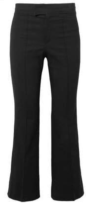Isabel Marant Lyre Cropped Cotton-blend Flared Pants - Black