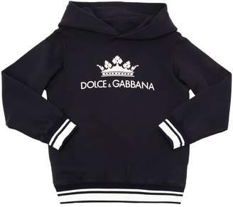 Dolce & Gabbana Logo Print Cotton Sweatshirt Hoodie