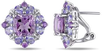 Concerto Amethyst and Tanzanite Sterling Silver Earrings