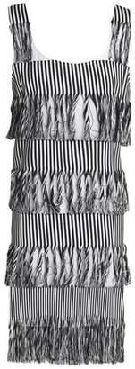 Prism Nevis Fringed Striped Cotton-Twill Dress