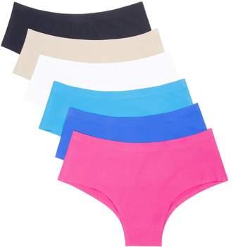 d210dc9a6bf40 ANZERMIX Women s Seamless Laser Cut Brief Panties Pack of 6 (Size ...