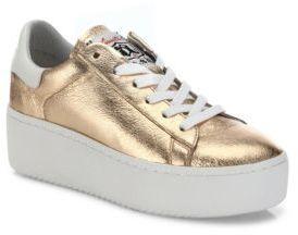 Ash Cult Metallic Leather Platform Sneakers $210 thestylecure.com