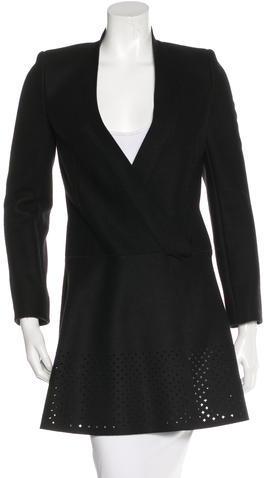 Balenciaga Balenciaga Virgin Wool Knee-Length Coat