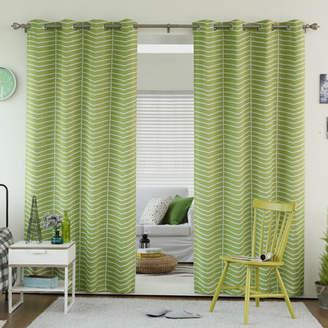 Best Home Fashion Best Home Fashion, Inc. Chevron Grommet Top Room Darkening Thermal Curtain Panels