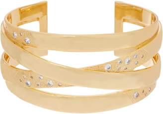 Melinda Maria Criss Cross Cuff Bracelet -Jennifer