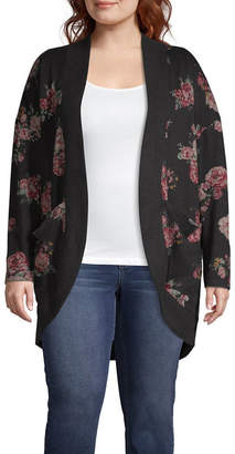 Arizona Long Sleeve Cardigan-Juniors Plus