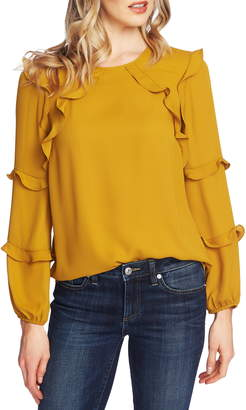 CeCe Tiered Ruffle Blouse