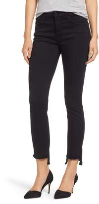 Jen7 Stretch Step Hem Ankle Skinny Jeans