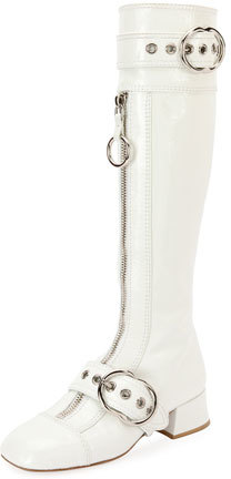 Miu Miu Patent Leather Knee-High Boot
