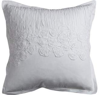 """Of A Kind Rizzy Home Decorative Poly Filled Throw Pillow Flower And Flourish 20""""X20"""" White"""