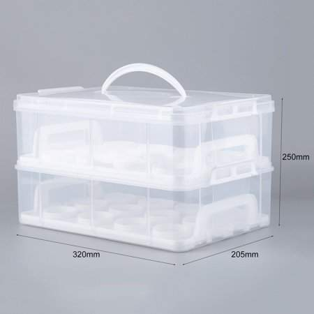 Tryandtry Cupcake Carrier Mini Cake Box Cup Cake Holder Storage Container Carrying Case