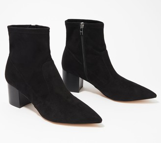 Marc Fisher Microsuede Stretch Ankle Boots - Jerica
