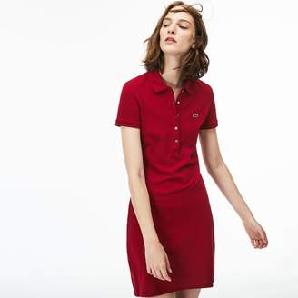 c071ff7121 at Lacoste · Lacoste Women s Stretch Cotton Mini Pique Polo Dress