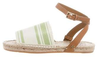Tory Burch Striped Espadrille Sandals