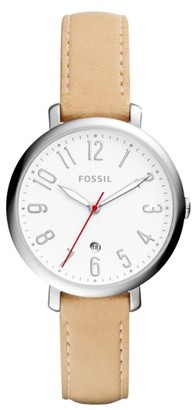 Women's Fossil Jacqueline Leather Strap Watch, 36Mm $95 thestylecure.com