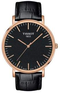 Tissot T-Classic Everytime Large Leather-Strap Watch