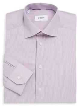 Eton Pinstripe Cotton Dress Shirt