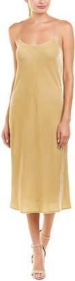 Vince Velvet Silk-Blend Cami Dress