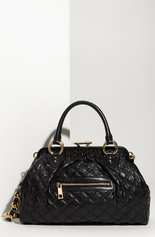 MARC JACOBS 'Quilting Lacquered Stam' Satchel