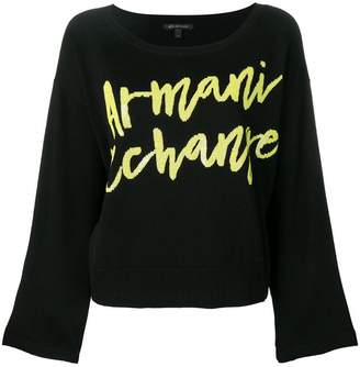 Armani Exchange sequin logo jumper