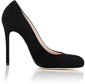 Barneys New York Women's Suede Rounded-Toe Pumps $295 thestylecure.com