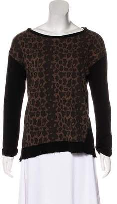 Sanctuary Leopard Print Long Sleeve Top