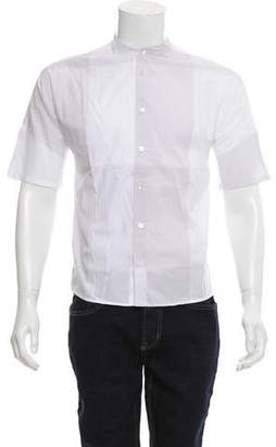 Stephan Schneider Colorblock Mandarin Collar Shirt