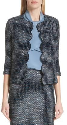 St. John Twinkle Texture Knit Jacket