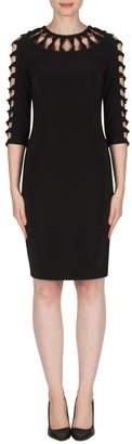 Joseph Ribkoff Black Cut-Outs Dress