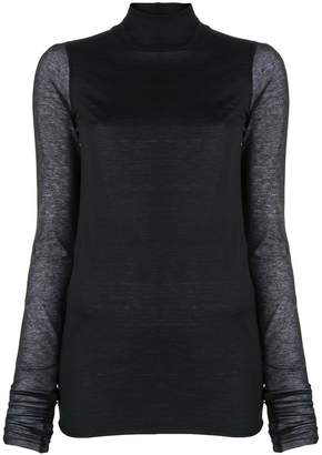 Rick Owens Lilies sheer sleeved jumper