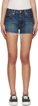 Levi's Indigo Denim 501 Shorts $60 thestylecure.com