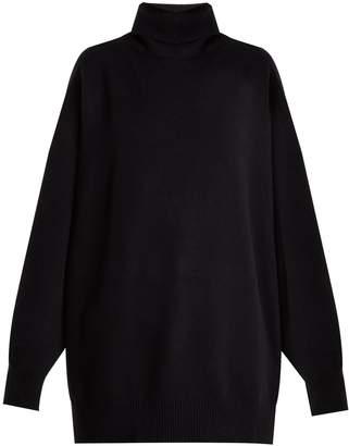 Raey Split-side roll-neck cashmere sweater