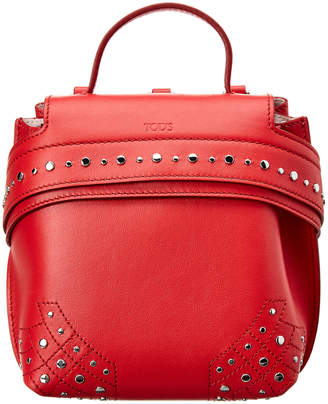 Tod's Wave Charm Leather Backpack