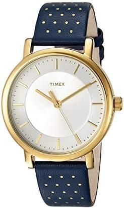 Timex Women's TW2R27600 Originals Leather Strap Watch