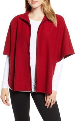 Anne Klein Zip Front Wool Cape