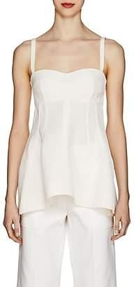 Jil Sander Women's Seam-Detailed Sleeveless Top - White