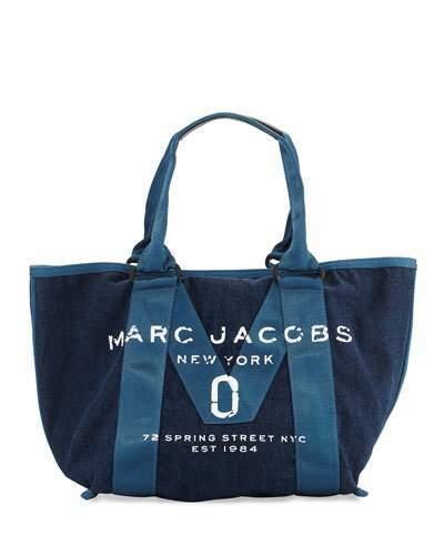 Marc JacobsMarc Jacobs New Logo Denim Tote Bag, Blue