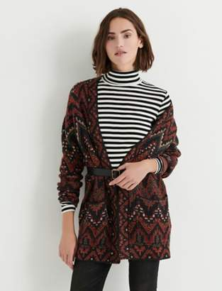 Lucky Brand LONG IKAT CARDIGAN