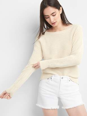 Gap Textured Knit Dolman Sleeve Pullover Sweater