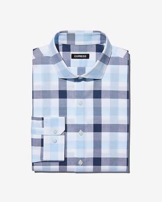 Express Slim Large Plaid Dress Shirt