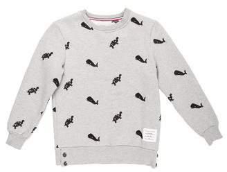 Thom Browne Embroidered Crew Neck Sweatshirt