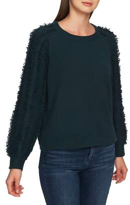 1 STATE 1.STATE Fringe Sleeve Sweater