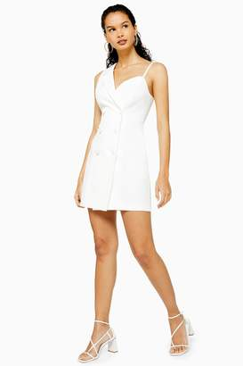Topshop Asymmetric Tuxedo Dress